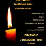 Concert de Noël / 7 décembre 2014