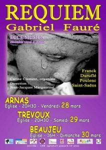 Affiche Requiem de Gabriel Fauré