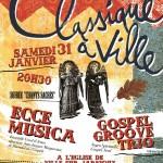 Concert : Classique à Ville! 31 janvier 2015