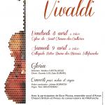 CONCERT VIVALDI GLORIA et Concerti pour violon et orgue / 8 et 9 avril 2016
