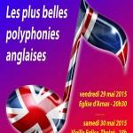 Concert : Les plus belles polyphonies anglaises / 30 mai 2015