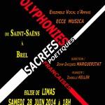 Nos 2 Concerts du mois juin le 27 et 28 / 2014