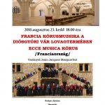"""Ecce Musica a été reçue par le choeur de Hongrie """"Cantus Agriensis"""" / 23 et 26 Août 2016"""